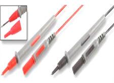 Standard 4mm Red Black Test lead set fits fluke Multimeter Removable Probe cover