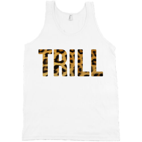 Canvas Tank Top Hip-Hop Shirt *ALL SIZES $ NEW* Trill Leopard Print Bella