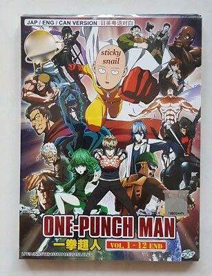 Anime DVD One Punch Man Vol  1-12 End ENG DUBBED All Region FREE SHIPPING    eBay