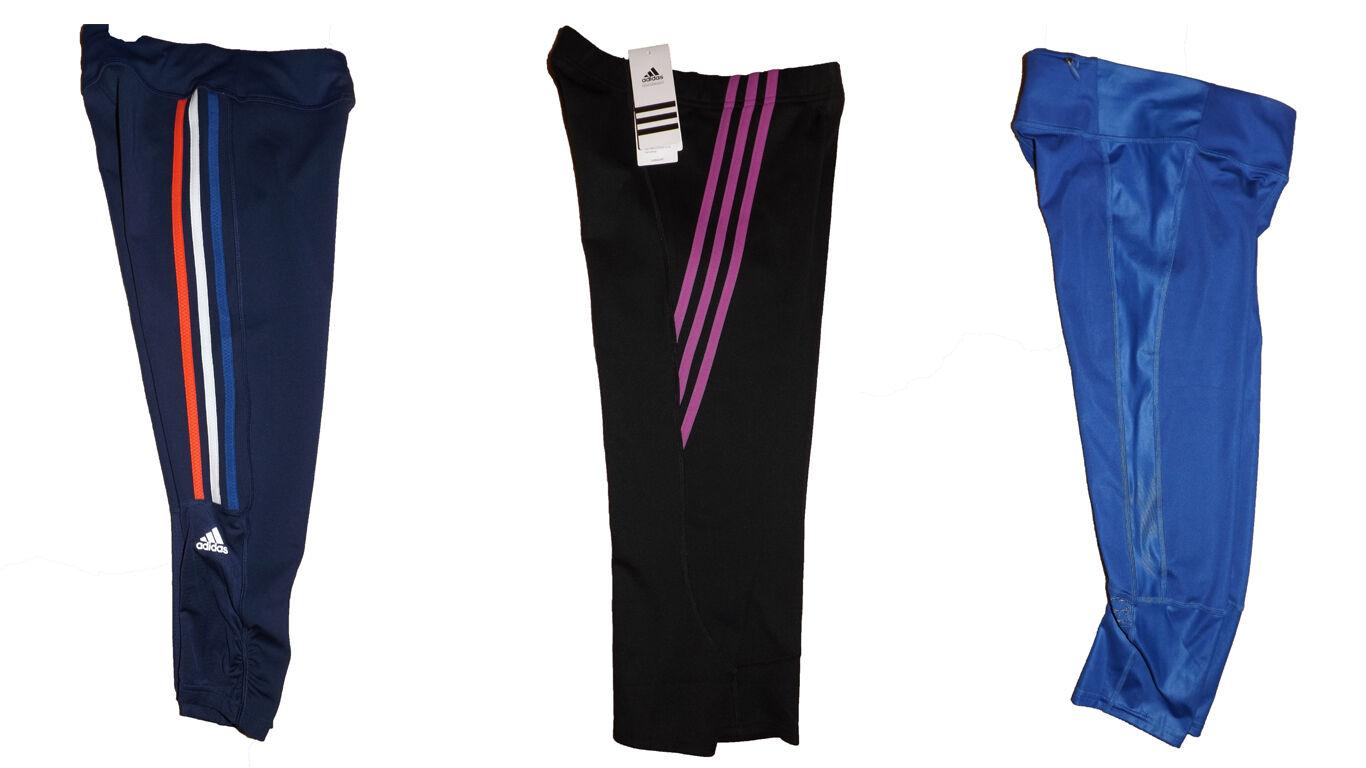 Adidas női 3/4 capri futás fitness harisnya BNWT ingyenes angol postaköltség