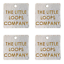 custom business Silver Personalised Faux Leather Tags Square 25mm Product tags