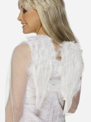 Caritatevole Bianco Piccolo Angel Wings Donna Piuma Costume Vestito Taglia 30 X 40cm Sapore Aromatico