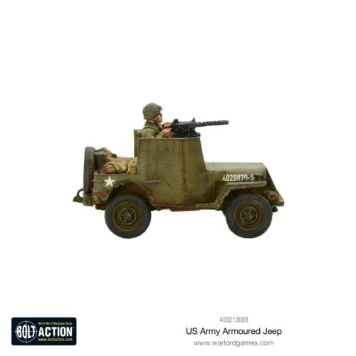 Warlord Games Miniature NIB Bolt Action 403213003 US Army Armoured Jeep WWII