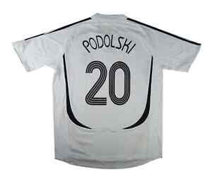Germania 2005-07 Authentic Home Shirt PODOLSKI #20 (eccellente) XL soccer jersey