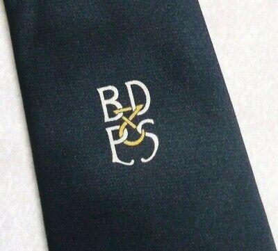 Costante Vintage Cravatta Da Uomo Cravatta Company Club Associazione Società Blu Scuro 1970s 1980s- Gamma Completa Di Articoli