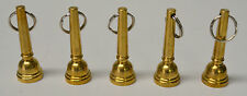 LOT/5 MIRAPHONE SOLID BRASS KEY CHAINS IN THE SHAPE OF A TUBA MOUTHPEICE