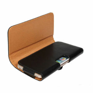 Leather-Holster-Belt-Twin-Loop-Pouch-For-iPhone-Samsung-Galaxy-Nokia-amp-Sony