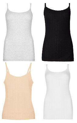 Vereinigt M&s Marks And Spencer Pointelle Thermal Ladies Camisoles Thin Strap Vest Uk 6-22