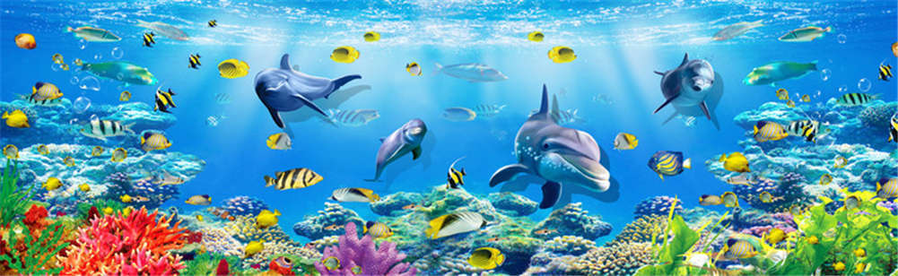 Friendly Sea Elf 3D Full Full Full Wall Mural Photo Wallpaper Printing Home Kids Decor d36d3b