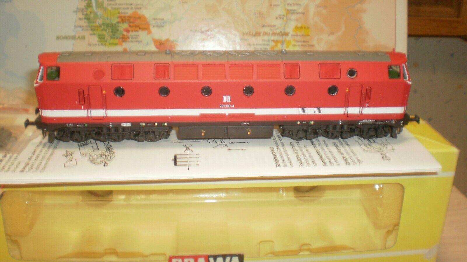 Loco diesel 229 1003  Sousmarin de Thuringe DR  Brawa HO