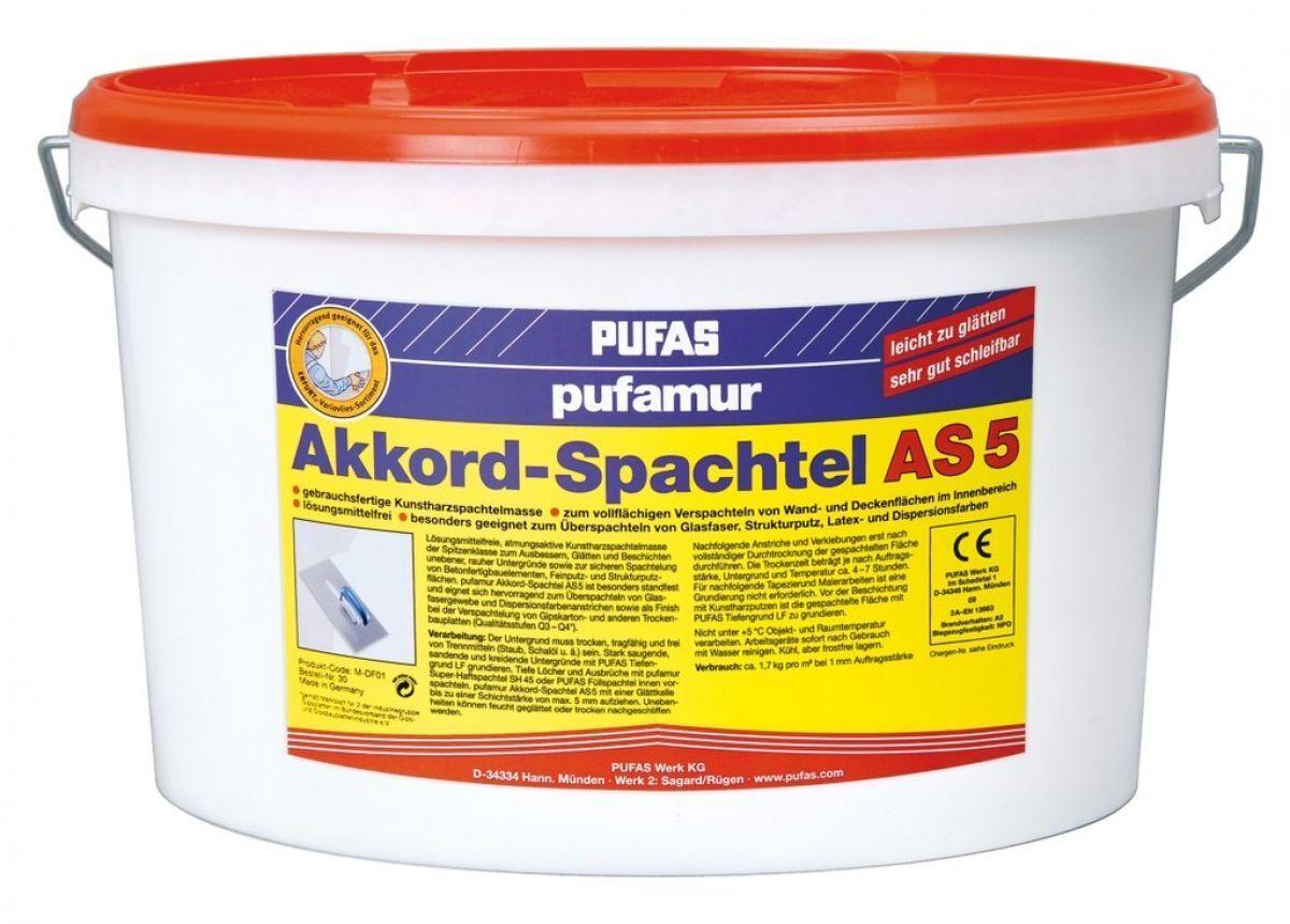 Pufas Pufamur Akkord-Spachtel AS5 15kg Füllspachtel Wandspachtel Spachtelmasse