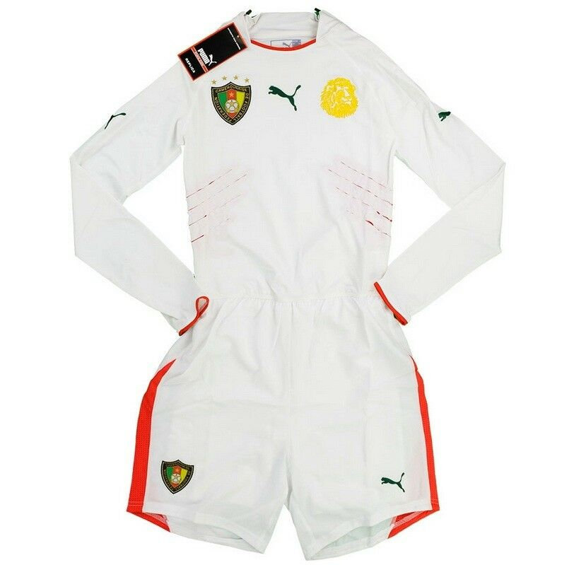Maillot Puma Cameroun Cameroon Player Issue Shirt Jersey Maglia KIT 2004 L