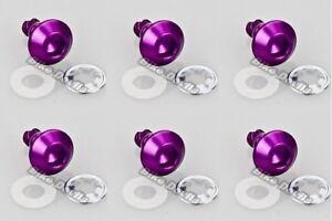 6-x-Allen-key-14mm-length-alloy-DZUS-quick-release-fairing-fastener-bolt-purple