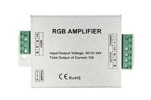 Amplificador-RGB-e-Mono-Color-Para-Tira-Bobina-Llevado-12V-24V-12A-RGB