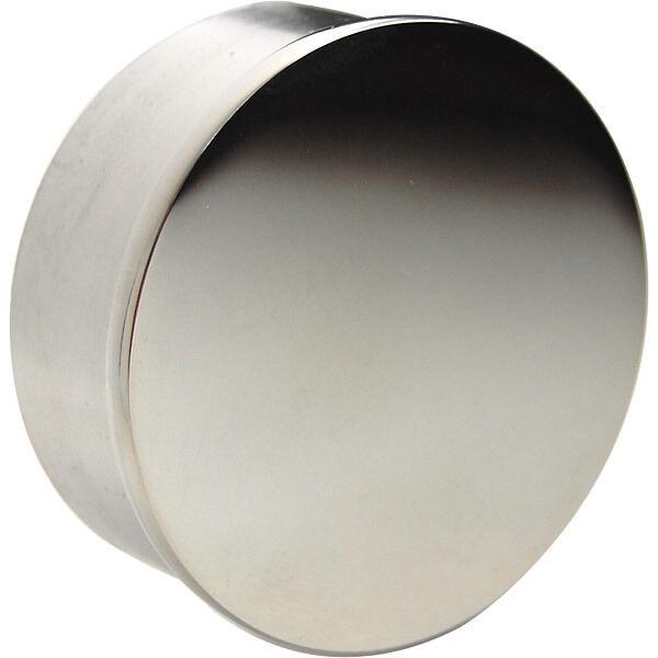 "Satin Brushed Flush Flat End Cap Bar Foot Rail 1.5/"" OD Stainless Steel"