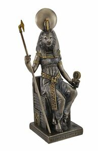 Mahes Lion Headed Ancient Egyptian God Statue Son of Sekhmet Warrior Goddess