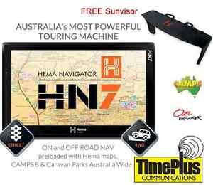 HEMA-HN7-Navigator-Off-Road-GPS-FREE-SUN-VISOR-NEW-150K-Hema-Explorer-Maps