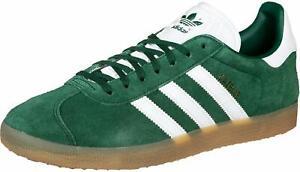 Details about adidas Originals GAZELLE Green Suede White GOLD GUM Brown DA8872 Men's 9 Shoes