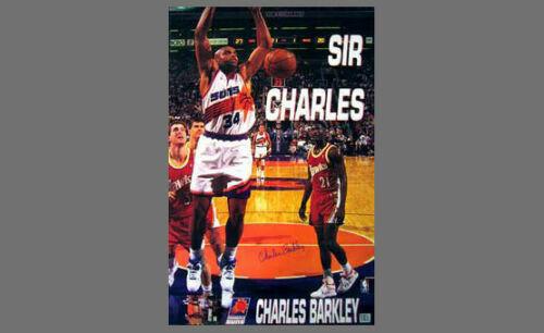 Rare Charles Barkley SIR CHARLES SLAM 1993 Phoenix Suns Vintage Original POSTER | eBay