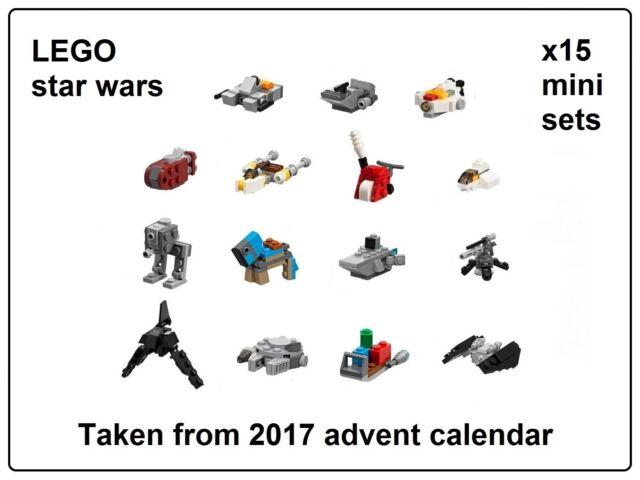 LEGO Star Wars x15 Mini Sets taken from 2017 Advent Calendar 75184 *BRAND NEW*