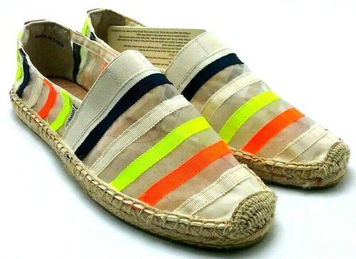 Joy /& Mario Woman/'s Espadrille  Multi Color Stripes Flat Sheer Shoes 01095