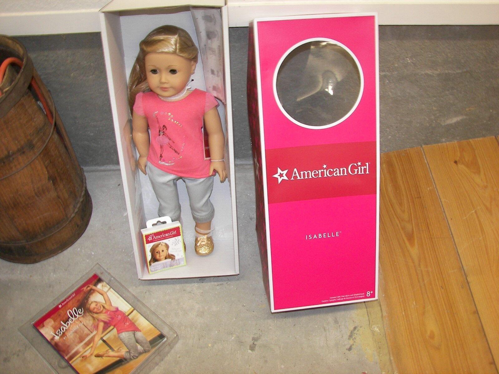 American Girl Isabelle con extra 6 par pendientes-Nuevo En Caja