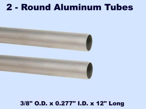 "3//8/"" O.D x 0.277/"" I.D x 12/"" L Wall Thickness: 3//64/"" Round Aluminum Tubes 2"