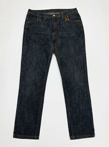 jeans-donna-usato-W34-tg-48-gamba-dritta-slim-denim-blu-boyfriend-vintage-T5521