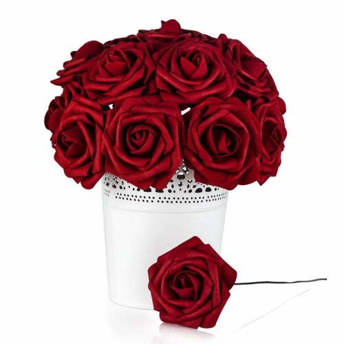 50 Rosas Roja Artificiales Ideal Para Centro De Mesa Party Boda Decoracion Red
