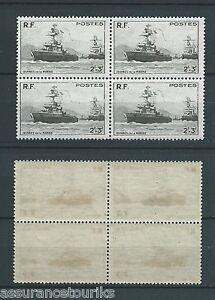 FRANCE-1946-YT-752-bloc-de-4-TIMBRES-NEUFS-LUXE