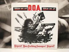 D.O.A. - WAR ON 45 LP UNPLAYED VIRUS 24 UK PRESSING DIFFERENT COVER & TRACKLIST