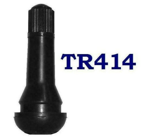 Autogem en caoutchouc TR-414 Snap-in Tubeless Pneu Valve Pack de 10