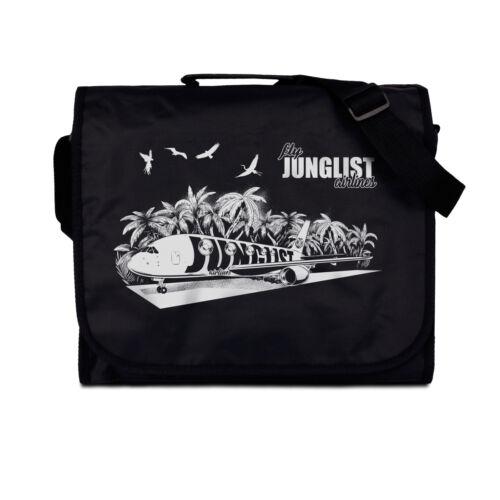 Messenger Bag Junglist Airlines Drum /& Bass DJ Record Cross Body Vinyl LP Mens