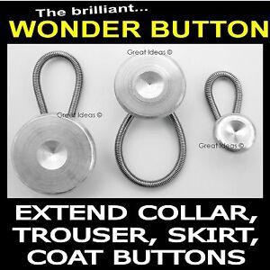 Trouser-Jeans-Skirt-Waist-Shirt-Metal-Collar-Button-Extenders-Expander-Pregnancy