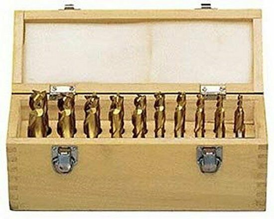 20Pce (3-20mm) HSS Tin-Coated End Mill & Slot Drill Set (Free Postage)