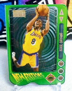 1996-97-Skybox-Premium-New-Editions-Die-Cut-Kobe-Bryant-Lakers-RC-Rookie-Metal