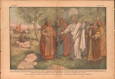 Pharisees The Tribute Cesar Pharisiens Jesus Christ Palestine 1936 ILLUSTRATION