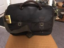 Barbour Wax Leather/Olive Fabric Briefcase
