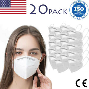20-Pack KN95 Protective Face Mask CE Certified Safety Mask Cover