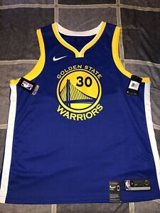 23fa26993 Nike Men s Golden State Warriors Stephen Curry  30 Royal Dri-FIT ...