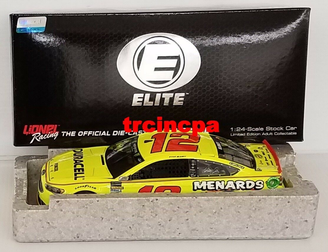 Ryan Blaney 2018 Lionel  12 MENARD Duracell Elite Ford Fusion 1 24 Free ship