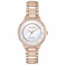 Citizen Women's Eco-Drive EM0382-86D Circle of Time Diamond Accents 30mm Watch