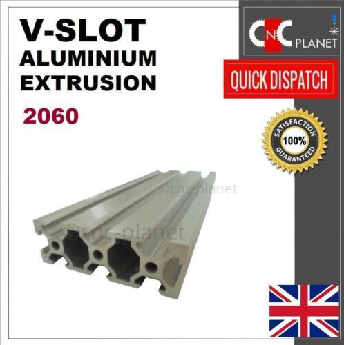 V-SLOT 2060 ALUMINIUM EXTRUSION PROFILE LINEAR MOTION RAIL CNC 3D PRINTER UK