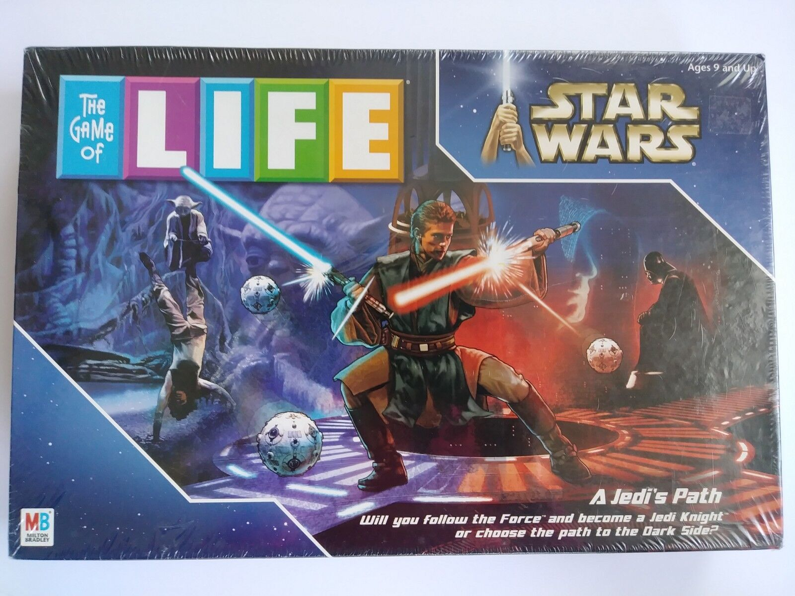 STAR WARS A JEDI'S PATH THE GAME OF LIFE BOARD GAME 2002 NEW SEALED