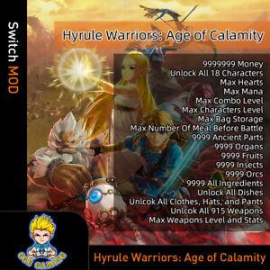 Hyrule Warriors Edad De Calamidad Switch Mod Max Corazones Dinero Articulos Armas Ebay