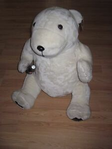 Vintage-1993-Play-By-Play-Giant-30-034-Coca-Cola-Plush-Polar-Bear-Holding-Bottle