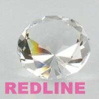 Clear Round Delicate Crystal Diamond Shaped Paperweight- 4.00''
