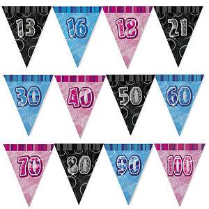 13th-100th-9-Pieds-Paillete-Triangle-Banderole-Drapeau-Banniere-Anniversaire