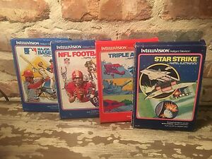 Lot-of-4-Mattel-Intellivision-Cartridges-Star-Strike-Triple-Action-2-others