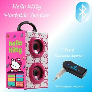 "Hello Kitty Portable Speaker ""FREE"" Bluetooth Adapter Included!!"